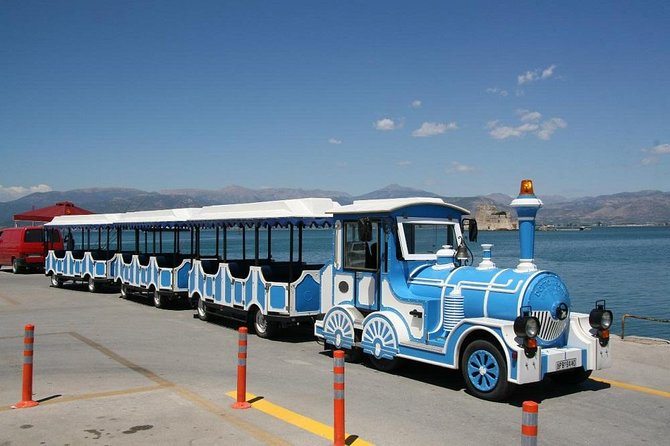 The Nafplio Fun Train is carefully designed to take you to all the famous sights in Nafplio and Nafplio main shopping area. Just 2 minutes from the main Arrival Gates, the Fun Trains are waiting for you to hop on and explore Nafplio.<br><br>Save time and money and explore the most important sights.<br><br>The tourist trains are conducting a route of a total duration of 20 minutes through the picturesque neighbourhood of the Old Town, the Cathedral of Saint George, The War Museum, the Great Road, the Land Gate, the Lion of Bavaria and many more. The train ticket is valid for one and only circular tour. At the starting point you will be provided with a free map of the city and our tour . Furthermore, you will have the chance to listen to the recorded commentary through speakers in Greek and English. <br>