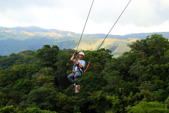 This is the perfect tour for those who want adrenaline, nature and relaxation all in one day of extreme adventure. <br><br>Pick up time is at 7:30am and drop off around 3pm.  <br><br>Includes private transportation, guide and all activities. Zip lines, horse ride, jungle slide, lunch, volcanic mud bath and hot springs.
