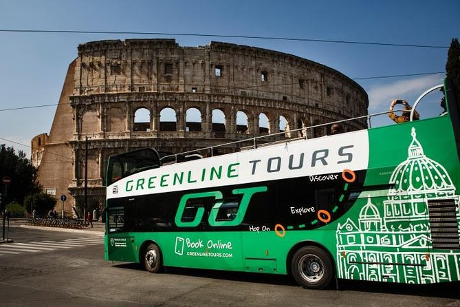 Discover the beauty of Rome, the Eternal City, in 360 degrees on this hop-on hop-off bus tour with audioguide including personal hearphones . See the Colosseum, the Vatican, St. Peter's Basilica, the Trevi Fountain, the Pantheon, and more: your ticket is valid for an unlimited number of 2-hours circuits and individual stops over the period you've bought it for.<br>Important! : A free App , will give those who request it, the opportunity, to translate the commentary on board into these other five languages: Dutch, Arabic, Korean, Mandarin chinese, Hindi.<br>