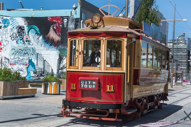 Welcome aboard the Christchurch Tram! Travel on our newly extended track & enjoy this unique and historic way to view the inner city. Drivers provide a live and entertaining commentary. A full circuit takes 50 minutes, includes 17 stops and there are up to four Trams operating. Trams run approximately every 15 minutes and your ticket lasts all day.