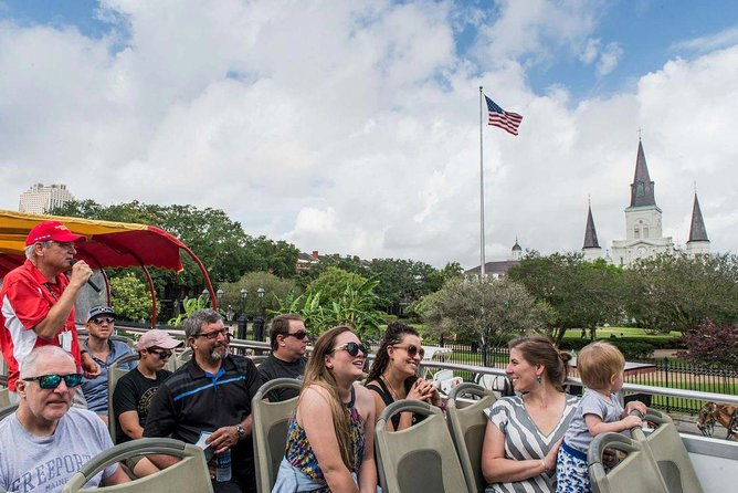 With a 1 day or 3 day ticket, sightseers can discover New Orleans on this thoroughly enjoyable unlimited hop-on hop-off bus tour. You'll enjoy access to 18 tour stops along the route where you can experience the very best of New Orleans, including Jackson Square, the French Quarter, Canal Street, the Garden District, the Louisiana Superdome and much more! With the 1 day ticket you'll be entitled to a free walking tour of Lafayette Cemetery, and with the 3 day ticket you'll additionally get free walking tours of the French Quarter and the Garden District, so you can really get stuck in to the local way of life!