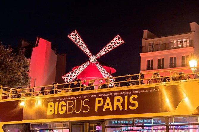 Excursão noturna por Paris em um ônibus Big Bus, Paris, França