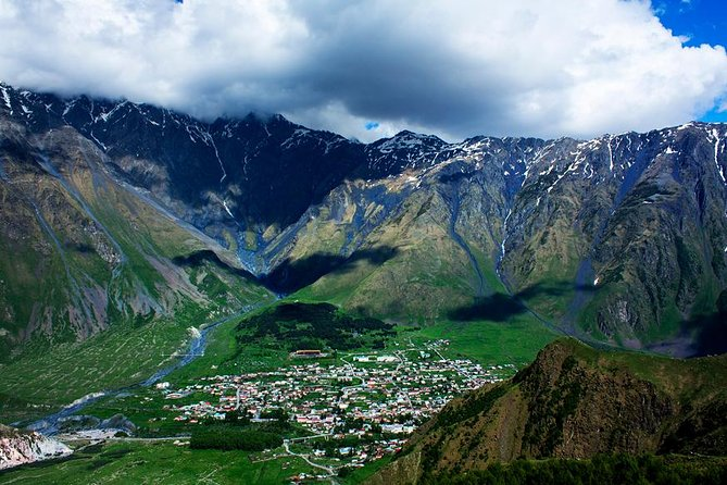 Explore Georgia on this multi-stop tour, including some of the country's top highlights. Visiting all of these locations—Mtskheta,Jvari,Jinvali, Ananuri castle , Gudauri, Kazbegi and Gergeti trinity church which is the final destination of the journey. There you will get an amazing view on the village of Kazbegi and grand Mount Kazbegi. With a driver to handle the winding mountain roads, you'll be free to enjoy dramatic views on your way to some of the region's top highlights, where included tours explore fascinating history.<br>