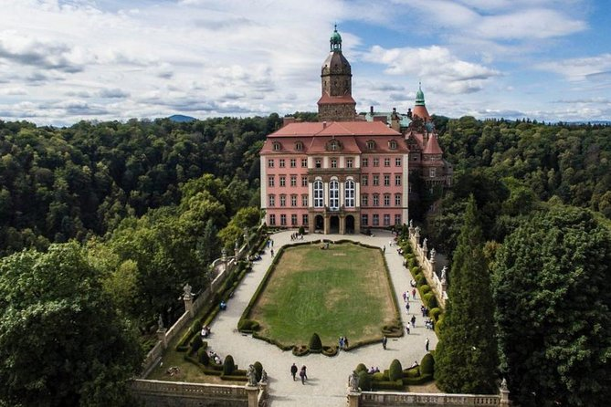 Ksiaz Castle and UNESCO Church of Peace in Swidnica, Wroclaw, Poland