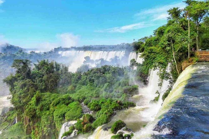 Take a 1-day break from the hustle of Buenos Aires to explore Iguazu National Park on this private, full-day adventure!<br><br>Important Note: flights included in this package are in economy class, in case passenger would like to choose another category we can certainly quote and tell you how much the difference would be. <br>