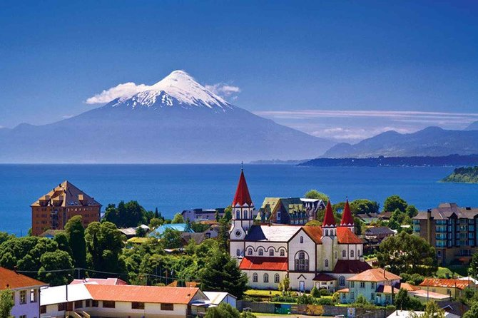 Join us to explore the Osorno volcano. On the way, pass by typical wooden churches, Chilean farm houses and the town of Ensenada. Drive through a thick forest of mostly native Coigües to reach Chile's oldest National Park. Visit the waterfalls of Petrohué and hike a short trail through native forests. We will get back to the car and drive on heading to the slopes of the Osorno Volcano where we will make a short hike over lava fields and enjoy the impressive view over the Lake Llanquihue.