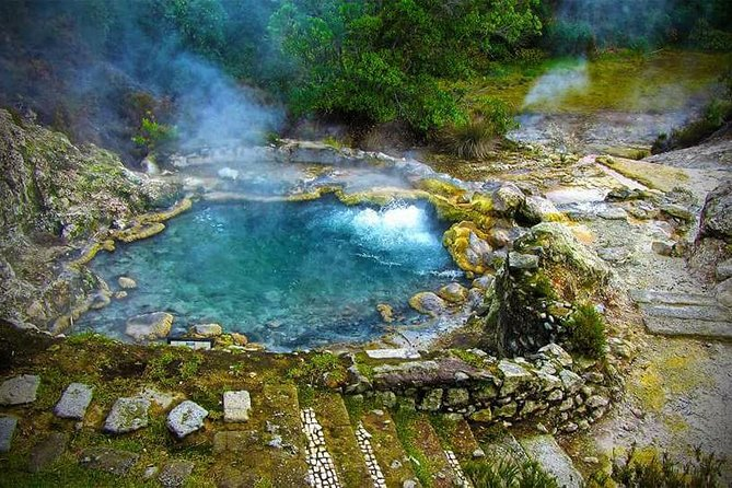 """A shore excursion tour to Furnas volcano.<br><br> A world of beauty and mystery awaits you. Walk trough fumaroles, hot springs and mineral springs involved in a mystic ambiance, optionally, visit the """"natural kitchen"""" where locals cook a unique stew in a hole on the ground using the heat of the volcano, admire the amazing landscape and visit the tea plantation, the last natural plantation on the planet, it is impossible to remain indifferent to such diversity. <br><br>Optionally, Terra Nostra botanic garden and thermal pool can be included at your shore excursion tour in a group size of 8 persons (entrance not included). Make sure you leave on comments that you desire to include this extra stop."""