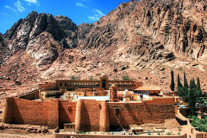 Travel through the Day to visit one of the oldest Christian monasteries in the world, St. Catherine, built around the site of the Burning Bush. after start climb the Mount Sinai in during the day to see the sunset from atop Moses' Mountain.
