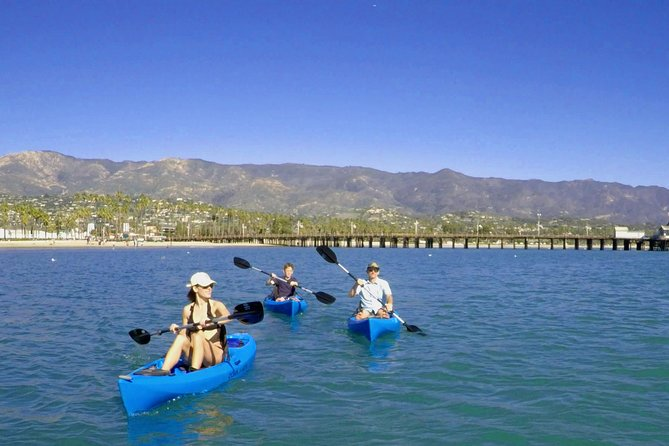 Set out from Santa Barbara Harbor on a private kayak tour of the stunning Santa Barbara coastline. Take in views of Santa Barbara and the Santa Ynez Mountains, and keep your eyes peeled for seals and dolphins. Your expert guide will share information about Santa Barbara's top attractions and customize the speed of the ride to suit your needs. Choose between three different tours of varying duration and difficulty.