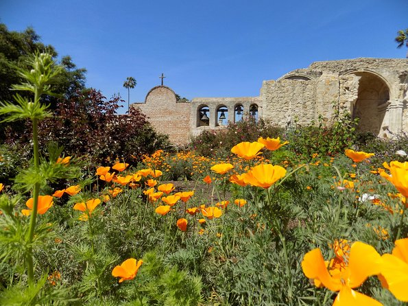 Plan a day trip to the Mission where you and your family can explore lush gardens, koi-filled fountains, museum rooms, original adobe buildings and the Ruins of the Great Stone Church, home to the world-famous swallows. <br><br>Enhance your visit with our new multi-language audio tour available in English, Spanish, French, German and Italian and offered free with admission. Participate in hands-on activities in the Mission Clubhouse; weave a basket like the Native Americans or join us on the weekends for panning for gold or Adobe brick making.<br><br>Shop the Mission Store's unique collection of gifts and beautiful handcrafted items from all around the world.<br><br>Conveniently located halfway between Los Angeles and San Diego, close to the freeway and airport and walking distance from the train depot.