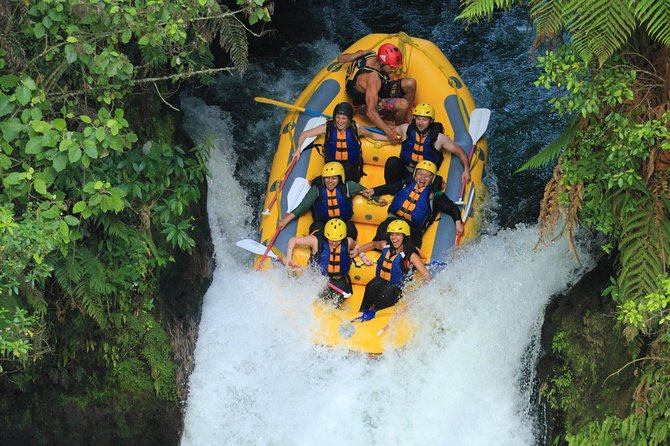 Spend three adrenaline-crammed hours white water rafting down the Kaituna River on this tour from Rotorua. Start at a spot where wild waters meet subtropical rainforests and canyons engraved in the earth. Raft past beautiful cascading waterfalls, including the stunning Tutea Falls, and even take the opportunity to do some adventurous cliff diving. This tour is good for novice and expert rafters.