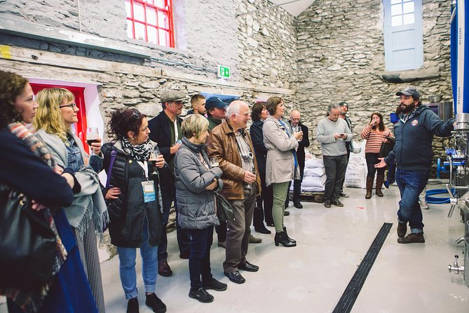 Located in the heart of Dingle town, Dick Mack's award-winning brewhouse was set up by three friends in October 2017. Winning two gold awards within our first year of opening, we are now pouring in over 30 locations on the Dingle Peninsula.<br><br>History...<br><br>This behind-the-scenes tour begins in our taproom, where we give you an insight into how this award-winning brewhouse came to be, and talk about our fascinating journey to date. You will then get to explore our brewhouse, a two-hundred-year-old cowshed, not usually open to the public.<br><br>Brewing Process...<br><br>In the brewhouse we will take you through the brewing process, including an in-depth talk about the ingredients vital to the unique taste of Dick Mack's beers.<br><br>TASTE...<br><br>The final part of our tour takes place<br><br>in the taproom, where you get to<br><br>sample our award-winning beers and discuss the<br><br>different characteristics and tastes<br><br>involved. Sláinte!<br>