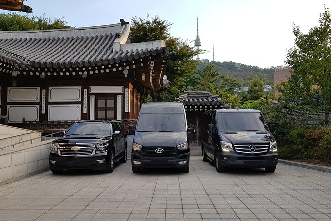 Enjoy an easy, stylish arrival in Seoul with your pre-booked private transfer service. Relax on a 60 to 90-minute transfer to your Seoul hotel or accommodation, available 24-hours a day, 7-days a week. Transportation is provided in a luxury sedan, 6-seat van, or a 12-seat bus, depending on your group size. You will receive complimentary bottled water during your transfer along with a meet and greet service upon arrival at the airport. Group maximum is 12 travelers.