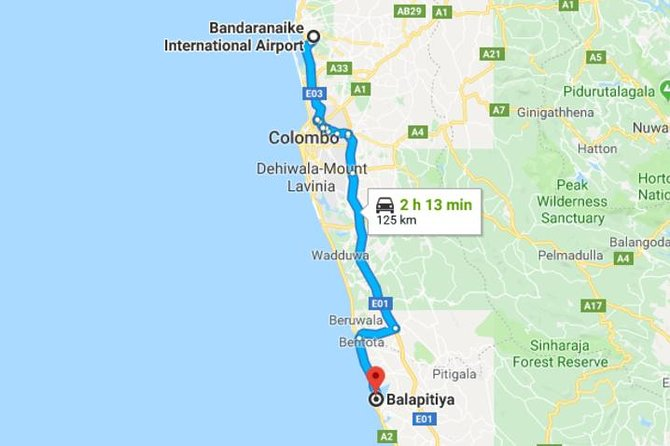Private Taxi from Sri Lanka Airport (BIA-CMB) to Balapitiya Hotels, Negombo, SRI LANKA