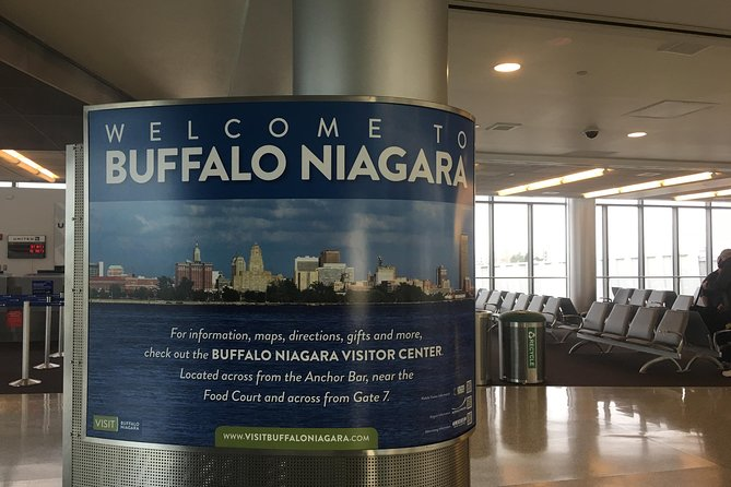 Enjoy a smooth, relaxing ride to Niagara Falls, NY from Buffalo International Airport (BUF). A driver will be waiting for you upon arrival at BUF and will drive your group to your final destination in an executive van round trip.