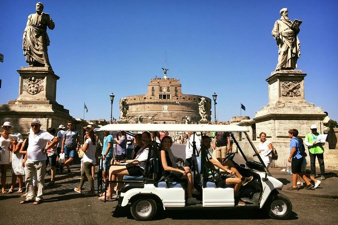 Rome by Golf-Cart English Tour - Ideal for Kids & not Only <br><br>Explore Rome, Navona square, Pantheon, Trevi Fountain by Golf Cart with Included English Speaking Driver & Free Pickup at your central Hotel