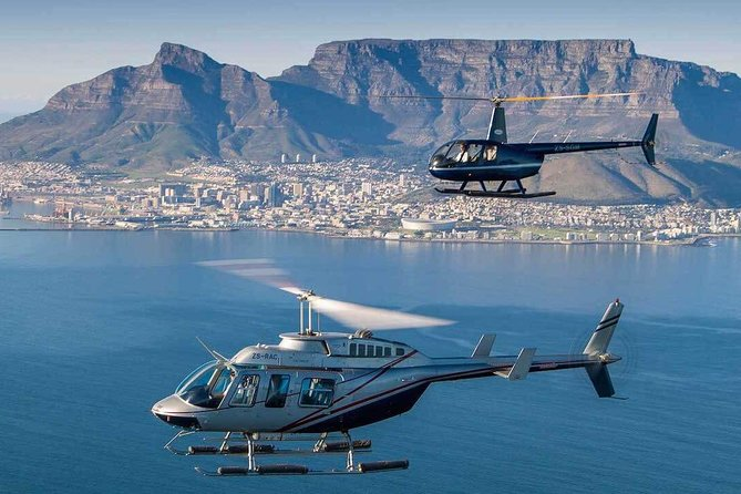 There is no doubt that Cape Town is one of the most beautiful cities in the world, and there is no better way to explore and admire this beauty than taking a private helicopter tour. This private tour includes a private helicopter just for you and your party up to one hour flying from the waterfront up to the Cape of Good hope and return. Upon returning to the Helipad, you will embark in a private, luxury vehicle for a full day of the Cape wine lands tour for wine tasting and lunch at exclusive restaurant of your choice or our recommendations in the Winelands or opt for a picnic at Warwick at own account. Our Cape Town Private Helicopter tour covering the entire Atlantic sea board up to where the currents of the Indian and Atlantic oceans merge will leave you breathless by admiring the natural beauty of our beautiful coastline. It is all about Cape town sightseeing, great wines, great foods and memories to treasure for a lifetime. This is a perfect way to spend a romantic time in Cape.