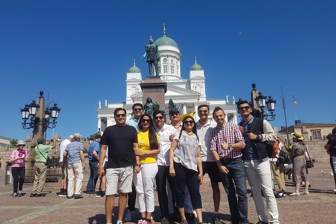 If you're seeking an affordable bus tour under the supervision of a knowledgeable local guide, our Helsinki group tour is your best option. This comprehensive daily city tour reflects the different sides of Helsinki – from the picturesque seaside views to the state-of-the-art architecture of the city center, each of them is unique & special. Our journey commences from your hotel/the harbor as we embark on a scenic drive along the Espalandi Street adorned in trees & flowers.