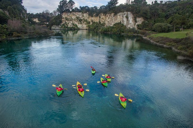 One of Taupo's best kept secrets, the sheer beauty and tranquility found on the crystal clear waters of the Waikato River will take your breath away on this 2-hour small group guided kayaking tour. Begin your kayaking journey at the source of New Zealand's largest river and drift past various islands, nature reserves, swimming spots, the drop zone of the Taupo Bungy before soaking in the Natural Hot Pools.