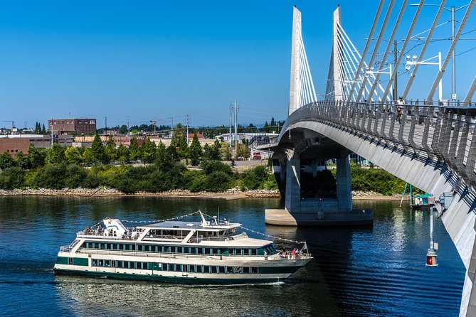 This cruise includes: <br><br>2-hour cruise along the Willamette River <br><br>Live entertainment <br><br>Northwest Plated Brunch<br><br>Select Dessert Buffet<br><br>Complimentary champagne,sparkling apple cider, and orange juice<br><br>Captains narration<br><br>Full-service bar available for purchase<br><br>Gift shop Items available<br><br>Boarding Starts at 11:00pm<br><br>Cruise time 11:30pm - 1:30pm<br><br>Our Champagne Brunch is our passenger favorite cruise. Enjoy a plated style brunch and let us do the work for you. Order as many helpings as you want from the comfort of your own private table. We will make sure to keep the coffee and the champagne flowing, all you need to do is relax and take in the views. You will have adedicated server at any point during the cruise they will be able to help you make sure it is an amazing experience.<br><br>Portland Spirit public cruises boards at the Salmon Street Springs Fountain in Tom McCall Waterfront Park. The fountain is located in the park where Salmon Street meets Naito Parkway/Front Avenue.