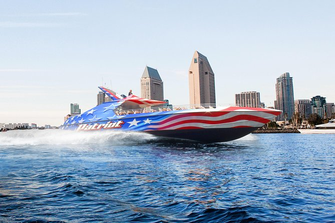 A boat ride on San Diego Bay is lovely, but an exhilarating ride on a dual-engine jet boat is an experience to remember. Zoom around the bay, enjoying views of the city skyline and Coronado Island and relishing the feel of the roaring wind. If that's not enough thrill, 360-degree spins add to the excitement. Choose from several departure times to suit your sightseeing schedule.