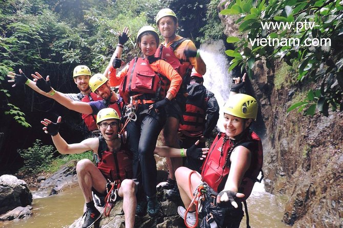 Canyoning Tour Including Datanla Falls Rappelling from Dalat, My Son, VIETNAM
