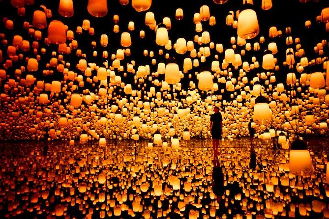 Private transfer to teamLab Borderless with admission ticket, Tokyo, JAPON