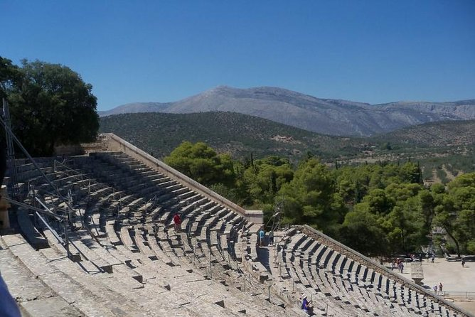 Explore the remains of the ancient city of Mycenae a major centre of Greek civilization from 1600BC to 1100BC and visit the small village of Epidaurus famous in ancient times for being a place of healing.