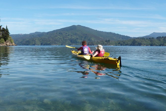 The half day guided sea kayak trip is an ideal opportunity to fit a little kayaking adventure into a busy day – or for those just wanting a taste of sea kayaking.<br><br>Our priority is to get you out on the water, allowing maximum time to enjoy the tranquil waters of the Queen Charlotte Sound. Your guide will enjoy sharing their knowledge of the Marlborough Sounds and it's native flora and fauna as you paddle along. The area is surrounded by bush-clad shorelines and sandy beaches. We'll stop for a light refreshment break along the way before returning to Picton.