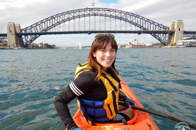 Come enjoy a morning sea kayak adventure on Sydney's beautiful harbour. No engine noise or fumes, just the sound of your paddle in the water and the sea birds squawking above! We'll experience the built environs and get up close and personal with many of the harbour's natural wonders and marine inhabitants. We'll paddle to the center of the harbour where we'll get some photos of you framed by the Harbour Bridge (I'm a professional photographer in my other job so expect good pics - no charge of course!) We'll then land and explore Goat Island (Memel in the local Aboriginal Language) before paddling back via Darling Harbour. Goat Island is closed to the public and landing is by special permit only. Your permit is included as part of the tour. After we're finished your welcome to have a hot shower before treating yourself to a great lunch at the famous Sydney Fish Markets a short walk away.