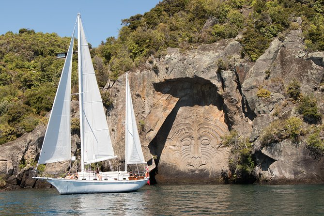 Our electric yacht is 100% sustainable, emissions and noise free, making it climate safe, and Lake Taupo's best sailing experience.<br><br>We have been sailing to the iconic Maori Rock Carvings since 1982! <br><br>This all-year-round activity offers relaxation, fun and adventure on the water, the Kiwi way. Get right up close to this culturally significant 46 foot (14m) high rock art. <br><br>Excellent, amusing and current commentary on lake, the volcanics and the carvings. Free refreshments including tea, coffee, hot chocolate and mulled wine (winter only). We are licenced but you are welcome or bring your own. <br><br>Swimming is encouraged. <br><br>Sail Barbary is the only boat in Taupo rated 'Qualmark Gold' by Tourism NZ under the 'sustainable business' category.
