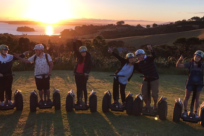 A unique way to see the Island! <br><br>Immerse yourself in Waiheke's inner beauty with an off-road Segway Journey with the added beauty of nature's amazing sunset. Glide through bushland, vineyards and coastal environments; Truly experience Waiheke with SegWai.<br><br>Our Segways are super easy to master and offer a relaxed, low impact way of seeing the island. After training, we head off-road into the NZ bushland winding our way up the hill and through the back streets of Oneroa Village to a rocky cove to test our skills, then skirt around to a lush sandy beach. Visit a 100-year-old shipwreck, Maori Marae, rare birdlife and take in some of the amazing views Waiheke has to offer. <br><br>We head back up to the magnificent Cable Bay Vineyard. and truly romantic Mudbrick Vineyard; amazing food, wine and stunning views. After soaking it in we cruise back home and on to your next adventure. You can finish at either Mudbrick or Cable Bay for dinner (please email me separately to organise reservations).