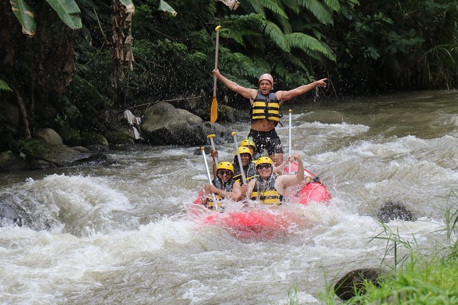This white-water rafting adventure for all ages take you paddling down the Ayung River for almost two hours with an expert river guide. Feel the breathtaking excitement of Class II and III rapids while you slip past stunning cliffs and waterfalls. Finish your rafting trip with a hot shower and replenish with a buffet lunch. Round-trip transport from selected Bali hotels is included.