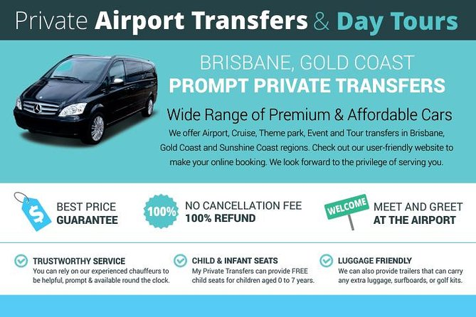 Private Airport Transfers- Coomera Gold Coast to Brisbane Airport, Gold Coast, AUSTRALIA