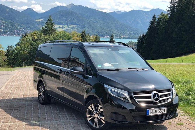 "• We use only newest Mercedes V-Class Minivan 2018 (e.g. V250d 4Matic long wheelbase max. 6 passenger). <br> • Leather seats and rear climate control. <br> • Professional drivers speaking all english (or other language on request) and are locally knowledgeable. <br> • Child seat can be provided on request. <br><br>Tour starts in the city area of Munich at the adress and time you will provide us. Our Chauffeur will take you in around 2 hours through the beautiful landscape of Bavaria to the Castle of Neuschwanstein (also known as the ""Disney Castle"") and will be there at your disposal to take you after visiting the castle to the Linderhof Palace with a stopp in between at the wonderful Lake Plansee where you can have a coffee break or lunch at an authentic local restaurant with lake view. After that we reccomend to visit the worldwide famous village Oberammergau which is known for the passionsplay, wood Carvings (Cuckoo Clocks) and beatifully painted bavarian houses. <br><br>Tour is fully customizable! <br>"