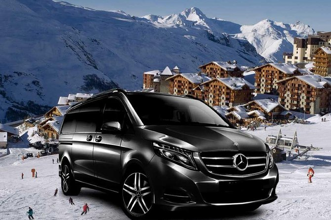 Airport Chambery - private VIP transfer to Les Menuires on Mercedes V-class, Chamonix, FRANCIA