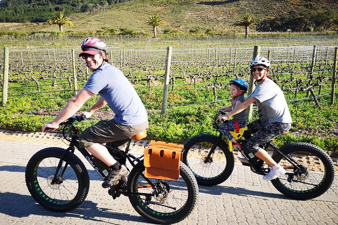 There has never been a better way to experience the winelands than a bicycle and now electric bicycles make it even more enjoyable and accessible to the whole family. <br><br>You have the advantage of soaking up the scenery and surroundings at your own pace while not spending much energy as your e-bike assists you in pedaling. The bikes are fitted with leather seats and saddle bags for your wine shopping.