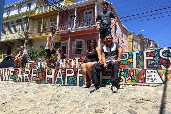 "The tour is only for you (small group) and nobody else<br>Tour starts at San Antonio Port. Then to one hr trip We will visit the Open Sky Museum of Valparaíso located at Bellavista and Florida Hill where we will observe street mural paintings made on walls and houses. Then we will go to ""La Sebastiana"" Museum and we will watch the bay of Valparaíso from the sightseeing points of Alegre and Concepción Hill. Then we will take funicular wich get to Valparaíso center city and bay, then we will have lunch in a restaurant in Sotomayor square. After visiting Valparaíso, we will go to Viña del Mar and visit the Flower Clock."