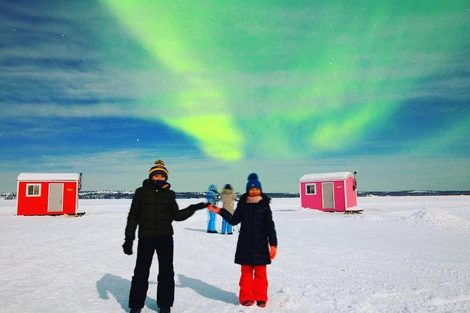 Watch the beautiful Aurora Borealis (Northern Lights) in the small wooden houses. There are 6 different types of multicolored wooden houses for a great background in your pictures. A great place foraurora viewing in the night. Cozy warm feeling while gazing at Northern Lights in the skies. We welcome you to join this wonderful Aurora tour.