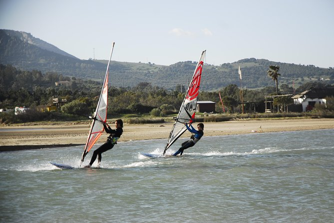 Tarifa is a world class windsurfing destination for windsurfing, some of the most profesional instructors are based here and it is a great choice to try windsurfing. <br><br>Windsurfing first steps are easy to learn, you will be sailing from day one. With our beginner boards and a motivated instructor you'll be up and going in no time. <br><br>Book in advance to reserve YOUR place.