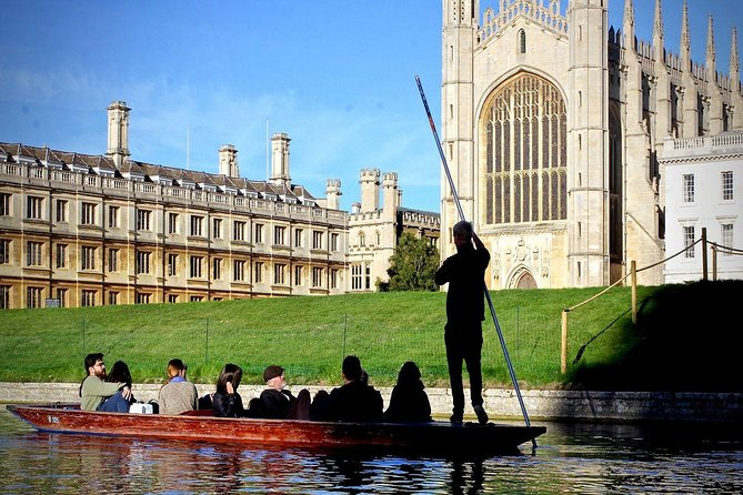 Enjoy a tranquil and personal experience on your own private punt.By selecting this private tour option, you and your group will have the luxury of the entire punt and the full attention of our experienced chauffeur. See some of the most famous Cambridge Colleges such as King's, Clare, Trinity and St John's as you and your group are punted along the River Cam by your very own private chauffeur.