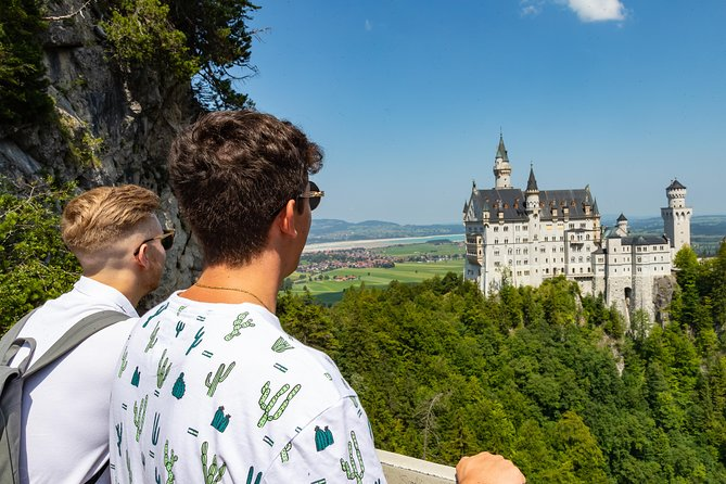 "On this tour, you will not only experience the two royal castles Neuschwanstein and Linderhof, as well as the idyllic village Oberammergau, but you will feel like a king! In a small group of up to 24 guests, you can enjoy personalized service aboard a luxurious, air-conditioned long-distance coach. Relax in the comfortable seats and enjoy the view through the large panoramic windows.<br><br>On board you will also find free snacks and drinks and free Wi-Fi. At the castles, you skip the queues at the cash registers with our ""Skip-the-Line"" service and immerse yourself in the fairytale world of King Ludwig II. Entries for the castles are already included in the ticket price.<br><br>After the visit of Neuschwanstein Castle, we continue to Oberammergau, which has become world famous for its Passion Play. Here you can buy some authentic souvenirs and gifts for your loved ones or just enjoy the unique atmosphere. After that we are heading to Linderhof Castle. <br>"