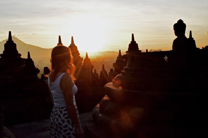 Experience the extraordinary holiday in Yogyakarta by visiting the magnificent temples! We combine the experiences of culture, nature and adventure by enjoying the sunrise from a hill with the backdrop of Borobudur temple and volcanoes in central Java followed by a visit to Mendut & Pawon temples. We will stop by at Prambanan Temple to end your amazing trip.<br>Highlights:<br> • Enjoy the spectacular sunrise view of Borobudur followed by Mendut & Pawon temples tour<br> • Explore the UNESCO World Heritage sites of Borobudur and Prambanan<br> • Admission Fees included to avoid hassle