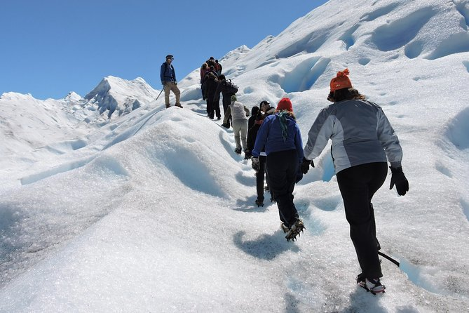 Book a Mini trekking on the Perito Moreno Glacier and you will feel the ice closer than ever!<br><br>This full-day excursion will take you to walk over the glacier, fully equipped and accompanied by our certified bilingual guides, for a day long.<br><br>You will also have access to the Glacier's balconies during a whole hour in order to get the best views and landscapes of the National Park before going for this one of a kind experience!<br><br>The excursion includes a 20 minutes navigation to the Perito Moreno Glacier and a long walk over the Ice to discover every corner of the Glacier.