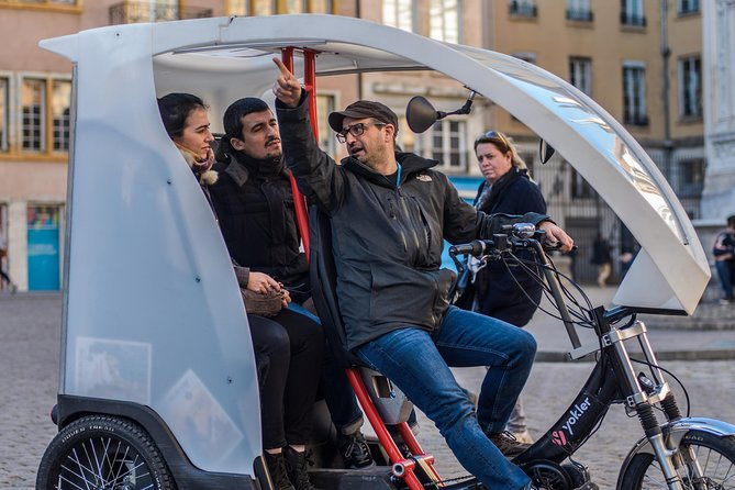 Travelers that want to avoid a crowded tour bus—but see more than with a typical walking tour—shouldn't miss this comfortable, pedicab tour in Lyon. As you cruise through the heart of the city, see top attractions, from bustling Place Bellecour to the historic Theatre des Celestins and Cathedral Saint Jean Baptiste. Along the way, learn about Lyon's history from your guide, and see some of the city's ancient hillside passageways, called traboules.