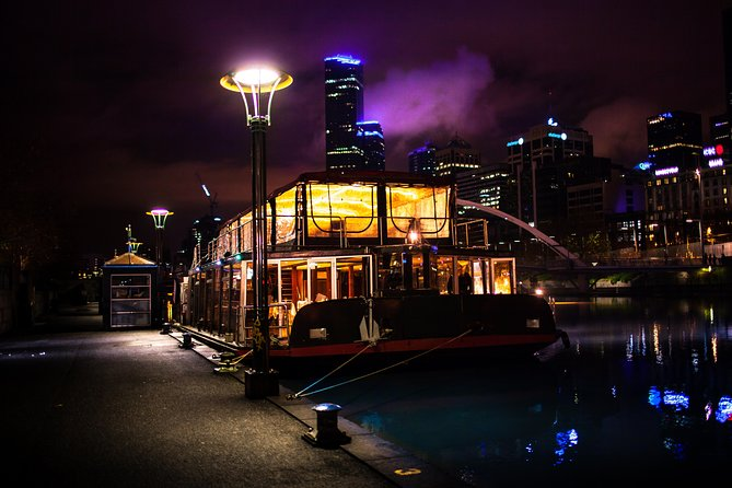 What could be a more memorable way to enjoy a meal in Melbourne than a gourmet dinner cruise along the Yarra River? Watch the city light up during this 3-hour cruise and enjoy Melbourne's noted fine dining in the comfort of a floating restaurant. Sip wine, beer and spirits while you admire the changing vistas of the city skyline and pass by waterfront parks and attractions.
