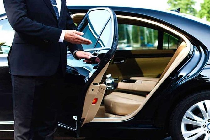 Private transfer with an English Speaking Driver. The driver will be waiting for you at the airport arrivals area and will help you with your luggage. You can enjoy your trip thanks to the expert and safe driving of our drivers.