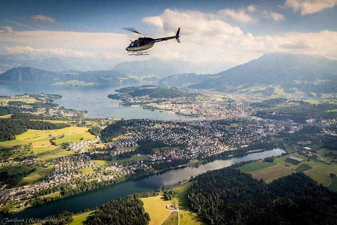 30 Minutes scenic Rigi & Pilatus helicopter flight from Lucerne, Lucerna, Switzerland