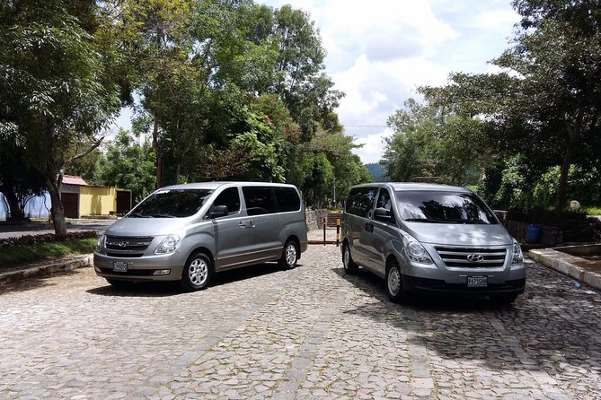 """Antigua and Guatemala City are connected by and excellent highway (30 Mls). Book safely and promptly your ground transfer from your hotel in Antigua to the airport with us. All our units are recent models, with A/C, reclinable seats, passenger insurance and GPS monitored. Morning traffic to enter Guatemala City is something to always have in mind. To calculate your pick up time, please take your flight´s departure time and consider 2 hours prior take off, please also add 1:30hrs """"road time"""" for flights that leave from 5 to 7am or from 11am or later and 2hrs (road time) for flights that leave from 7am to 10am"""