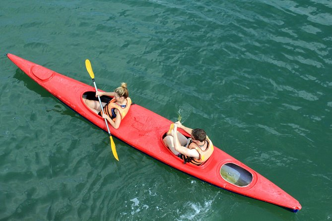 Bai Tu Long small boat & ovenight cruise 2 days tour: Kayaking - swimming, Halong Bay, Vietnam